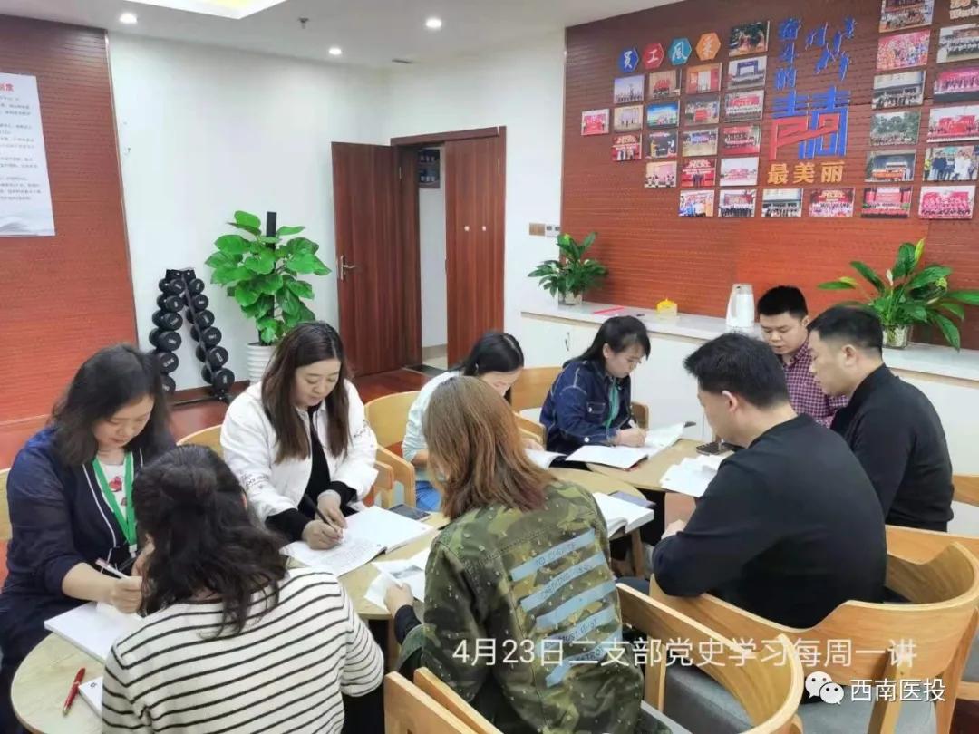 西南医投集团各基层党支部扎实推进党史学习教育